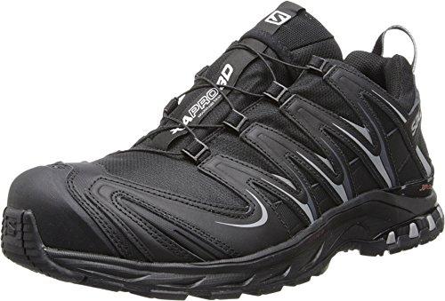 Salomon Mens XA Pro 3D CS Waterproof Trail Running Shoe Black / Black / Pewter