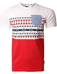 a4f0cebf Mens T-Shirt D Code Aztec Print T-Shirt Short Sleeved Top Summer 1C2679
