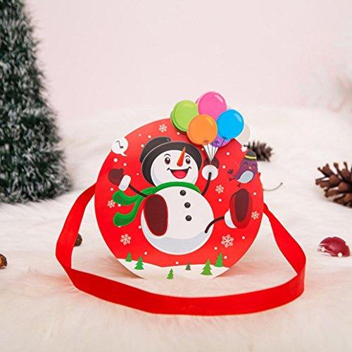 Amuster Albero Di Natale Ornamento Buon Natale Candy Bag Snack Pack Per Bambini Giardino Domestico Decorazioni Per La Casa A
