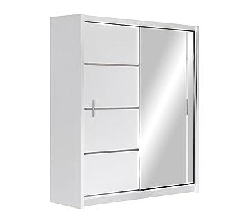 Kleiderschrank Vista, Schwebetürenschrank mit Spiegel, Schiebetür ... | {Kleiderschrank weiß schiebetüren 65}