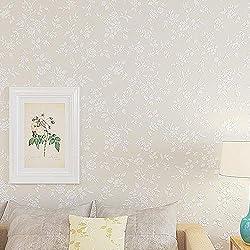 Stickers Carrelage Papier peint floral de tissu non-tissé pour la chambre à coucher de salon 57 pieds carrés / paquet de rouleau de 2 rouleaux de restaurant de cuisine Hotel Cafe Salle de Bain et Cuis