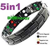 Best Magnetic Therapy Bracelets - TITANIUM Magnetic Energy Germanium Armband Power Bracelet Sport Review