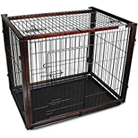 Casetas y Cajas para Perros Jaula para Mascotas Jaula para Perros Inodoro de Madera Maciza Jaula