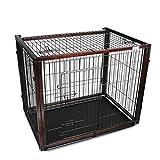 Casetas y Cajas para Perros Jaula para Mascotas Jaula para Perros Inodoro de Madera Maciza Jaula para Mascotas de tamaño Mediano para Perros Valla para Mascotas Cajones y Fundas para perreras