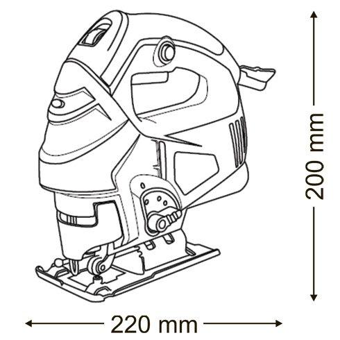710 Watt Stichsäge Laser Pendulhub Schnellblätterwechsel - 7