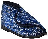Neu Damen Klettverschlussband Waschmaschinenfest Weite Passform Diabetiker Orthopédique Pantoffeln Schuhe UK Größen 3-8 - Damen, Marineblau/Hoch, 40 (UK 7)
