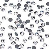 1440 Piezas 4 mm Cristales AB Hotfix Diamantes de Imitación Redondos Gemas de Vidrio (Transparente)