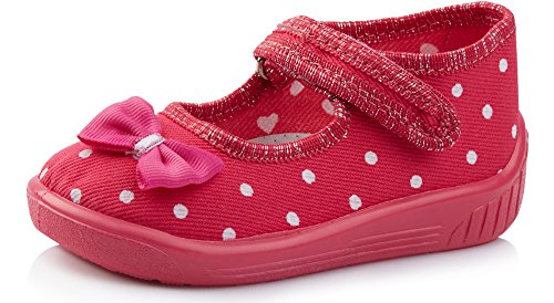 Ladeheid pantofole ballerine bambina larw004(rosa/pois, 19)