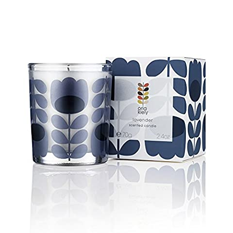 Orla Kiely Miniature Travel Lavender Scented Candle, Purple, 70 g