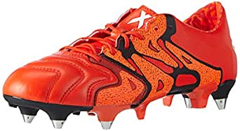 5cb93d6a3 Adidas X 15.1 Soft Ground Leather Mens Football Boots - Orange-6 ...