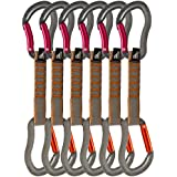 Fusion Fusion Climb Techno Zoom Bent Gate & Straight Gate Key Nose Carabiners Quickdraw BG/ST-11 CM 6 Pack