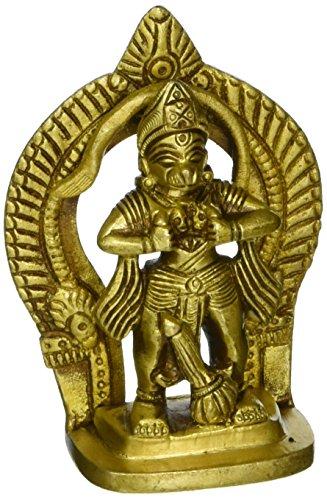 Gangesindia Hanuman montrant RAM Sita dans son Coffre 4674 (7,6 cm H x 5,1 cm L x 2,5 cm D) Doré