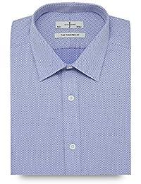 J By Jasper Conran Blue Dotted Slim Fit Shirt