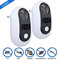 ValueTalks Ultrasonic Pest Repeller Plug In 2 Pack Indoor Pest Control Non Toxic Electronic Insect Repellent For Cockroach Mosquitoes Rats Fleas Flies Insects & More