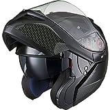 Black Optimus SV Motorrad Roller Klapphelm M Gloss Black - 6