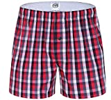 Elonglin Homme Boxers Caleçon Short Coton Américains sous-Vêtement Lâche Couleurs Divers Couleur 11 FR M (Asie L)