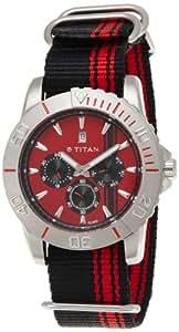 Titan Octane Multi-Function Analog Red Dial Men's Watch - 9490SP02J