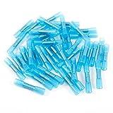 50x Azul 1.5–2.5mm² Soldadura Empalme rápido Cable Conector Tubo termorretráctil termorretráctil Conector Crimp Conector Cable Guantes