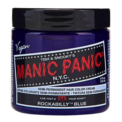 Manic Panic Semi-Permanent Color Cream Rockabilly Blue Color: Rockabilly Blue