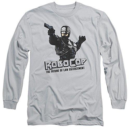 Robocop Herren Langarmshirt Silber