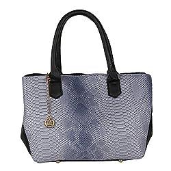 Moedbuille Grey Letherette Satchel Handbag