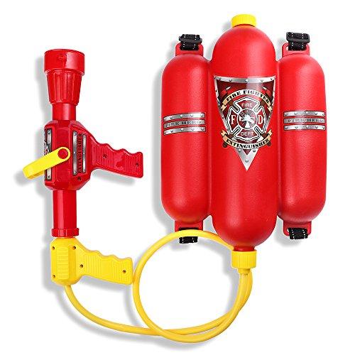 Schramm® Wasserspritze Feuerwehrspritze mit Rückentank Wasserpistole Feuerlöscher Wasser Pistole Wasserpistolen Wassergewehr Water Gun Watergun Feuerwehr Wasser ()