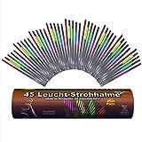 45 Knicklichter Strohhalme 5 Farbmix