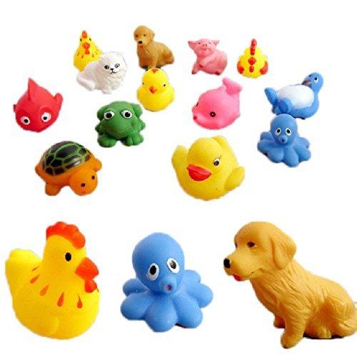 Bebe-ducha-juguetes-TOOGOOR13-piezas-caucho-Animales-Con-Sonido-bebe-juguetes-ducha-juguetes-para-bano