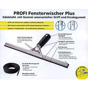 UNGER Consumer Profi Fensterwischer, Abzieher, 30cm Gummigriff