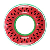 GADGETKING Inflatable Watermelon Float Raft Swimming Pool Beach Fun Sport Swim Ring Hot