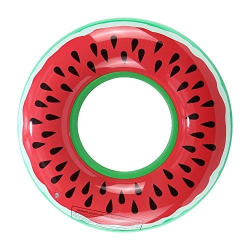 Gadgetcking, anguria xl, anello gigante gonfiabile, originale ciambella galleggiante con il disegno dell'anguria, adatta per la piscina, la spiaggia e per le vacanze estive