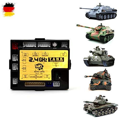 Unbekannt Heng Long RX-18 2,4Ghz Platine für RC Panzer 3818, 3838, 3839, 3869, Kettenfahrzeug, Receiver, Neu OVP