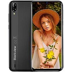 Smartphone Débloqué, Blackview® A60 (2020) Téléphone Portable, 6.1 Pouces Pas Cher Écran, 4080mAh Batterie, Camera 13MP+5MP, Double Nano-SIM, Capacite 16Go (Extensible à 128Go), Android 3G Mobile
