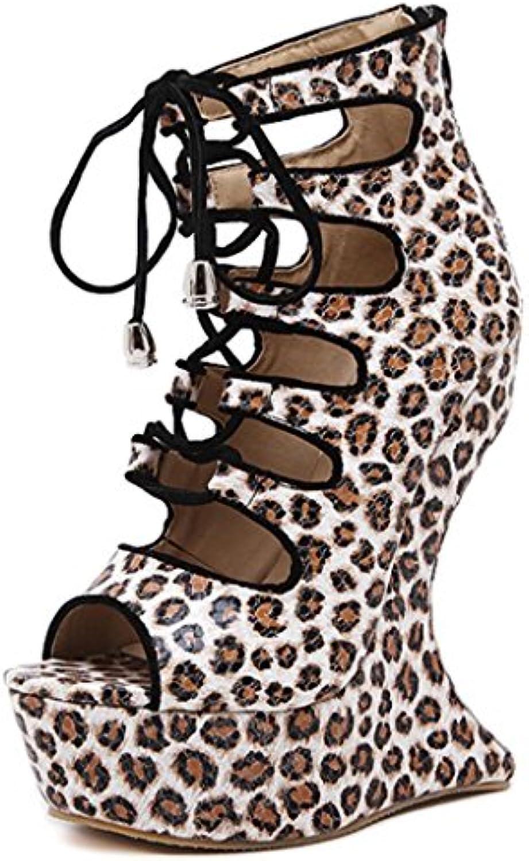 Sandalias de Verano para Mujer Zapatos de Playa de Fondo Grueso Casual con Romaniping Inferior Zapatos, Negro, 35 -