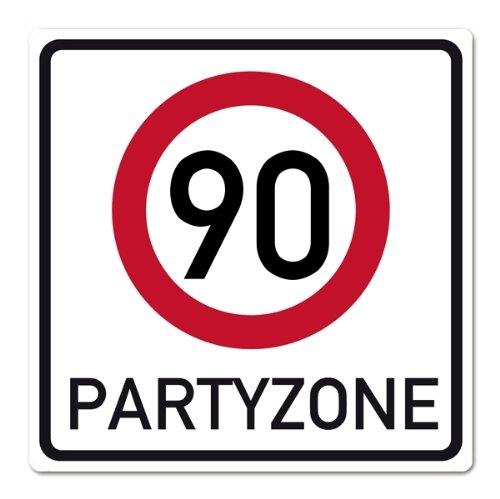 private signs Riesiges PVC Verkehrsschild zum 90. Geburtstag 50cm x 50cm