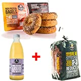 Dr Zak's Free Range Liquid Egg White 1 Litre + High Protein Bread 850g + High Protein Bagels Multigrain & Seeds - Pack 1 ( 4 Bagels )
