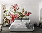 Carta Da Parati 3D Effetto -400cm×280cm(larghezza x altezza) Rosso Rododendro Moderno Soggiorno Camera Da Letto Decorazione Da Muro Art