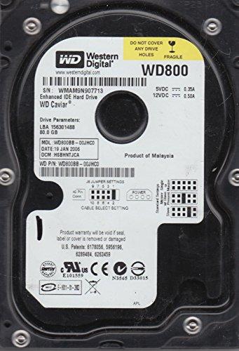 80GB Western Digital WD800BB-00JHC0 HDD Festplatte IDE 3,5 zoll ATAPI, BULK - 80 Festplatte Ide Gb