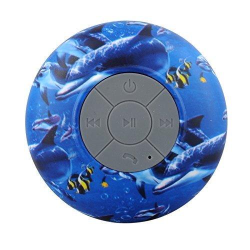 HanLuckyStars Altavoz bluetooth Portátil Nueva prueba de agua MINI Wireless Micrófono Manos Libres para Duchas,Cuarto de baño,Piscina,Barco,Coche, Playa,al aire libre