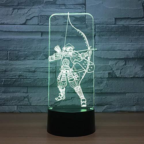 lusion Lampe Led Nachtlicht Mit 7 Farben Blinken & Touch Schalter Usb Angetrieben Schlafzimmer Schreibtischlampe für Kinder Geschenke ()