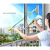 Cuzit Telescoping Window Washing Tool U Grip Window Cleaner With Microfiber Cloth and Rubber-Stardard Package