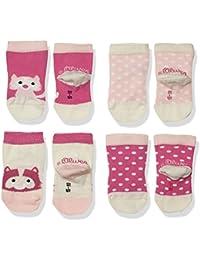 s.Oliver Socks Baby-Mädchen Fashion 4p, 4er Pack