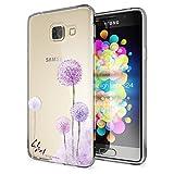 NALIA Handyhülle kompatibel mit Samsung Galaxy A3 2017, Ultra-Slim Silikon Motiv Case Cover Hülle Dünn Durchsichtig Etui Handy-Tasche Backcover Transparent Bumper, Designs:Dandelion Pink
