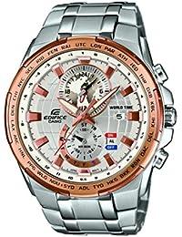 Casio Herren-Armbanduhr Edifice Analog Quarz Edelstahl EFR-550D-7AVUEF
