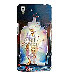 FUSON Sai Baba Graphic Painting 3D Hard Polycarbonate Designer Back Case Cover for Oppo R7 :: Oppo R7 Lite
