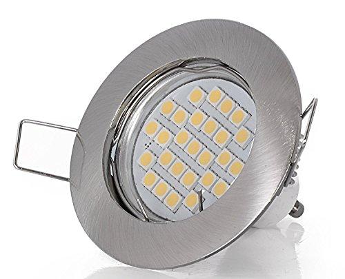 Set Einbaustrahler 230Volt 5Watt 430Lumen LED warmweiß 120° Abstrahlwinkel GU10 Fassung inklusive