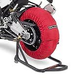 ConStands - Motorrad Reifenwärmer Honda CBR 1000 RR Fireblade/SP/ SP-2 Räder Set 60-80°C, 17 Zoll, Rot