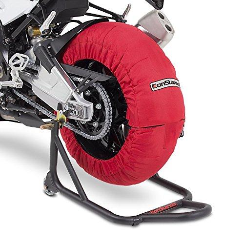 Calentadores Neumáticos Moto ConStands Superbike 60-80 °C Par Rojo