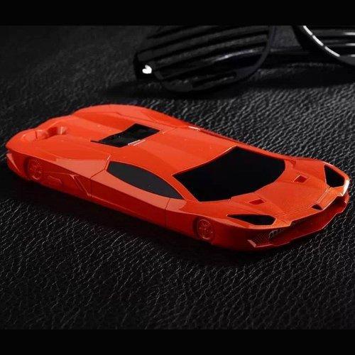 Cover iPhone 6, TrendyBox Auto Sportiva Case Cover per iPhone 6 + 0.3mm Vetro Temperato Pellicola Protettiva + Gufo Cinghia Telefono (Verde) Arancio