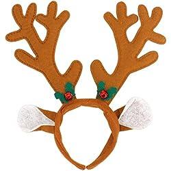 Rentier REH Geweih Haarreif Geweih mit Ohren Weihnachten Deko